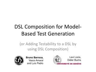 DSL Composition for Model-Based Test Generation