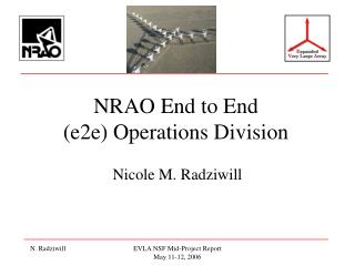 NRAO End to End (e2e) Operations Division