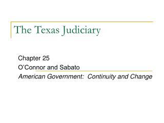 The Texas Judiciary