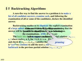 §5  Backtracking Algorithms