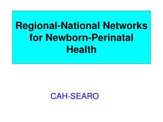 Regional-National Networks for Newborn-Perinatal Health