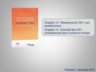 Chapitre 12 : Résistance du VIH-1 aux antirétroviraux