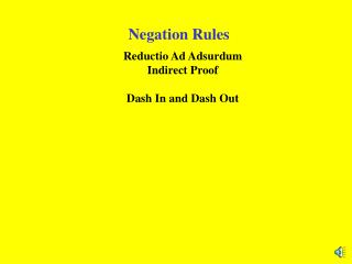 Negation Rules