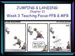 JUMPING  LANDING:  Chapter 21 Week 3 Teaching Focus-PFB  MFB