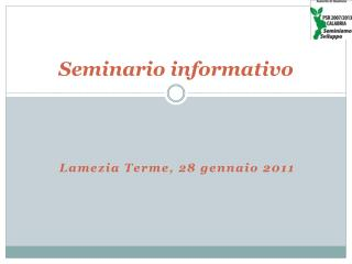 Seminario informativo