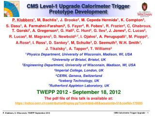 CMS Level-1 Upgrade Calorimeter Trigger Prototype Development