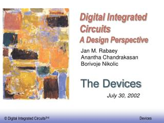 Digital Integrated Circuits A Design Perspective