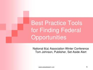Best Practice Tools for Finding Federal Opportunities