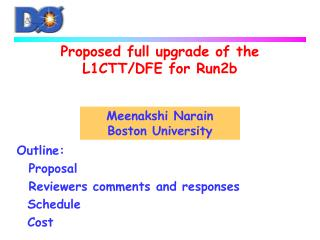 Proposed full upgrade of the L1CTT/DFE for Run2b