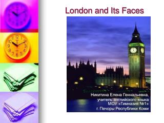 London and Its Faces