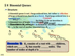 §8  Binomial Queues
