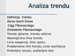 Analiza trendu