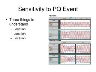 Sensitivity to PQ Event
