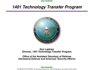 1401 Technology Transfer Program