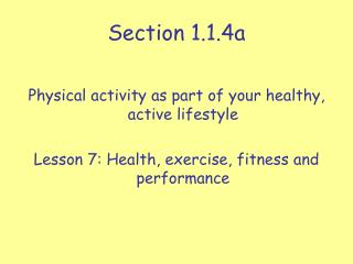 Section 1.1.4a