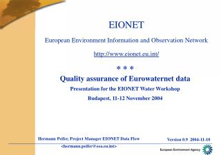 EIONET European Environment Information and Observation Network eionet.eut/