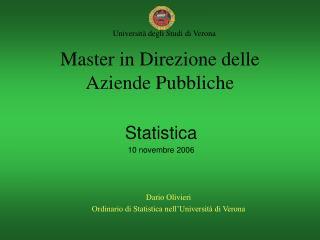 Master in Direzione delle Aziende Pubbliche