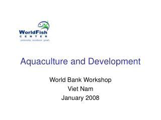 Aquaculture and Development