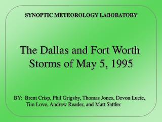 SYNOPTIC METEOROLOGY LABORATORY