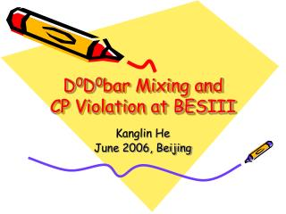 D 0 D 0 bar Mixing and  CP Violation at BESIII