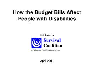How the Budget Bills Affect People with Disabilities