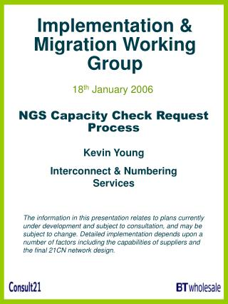 Implementation & Migration Working Group