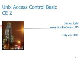 Unix Access Control Basic CE 2