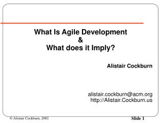 What Is Agile Development & What does it Imply?