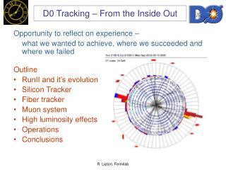 D0 Tracking – From the Inside Out