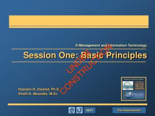 NEXT Session One: Basic Principles