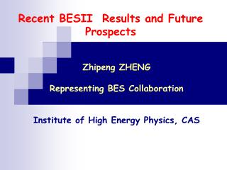 Recent BES II Results and Future Prospects