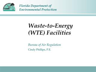Waste-to-Energy (WTE) Facilities