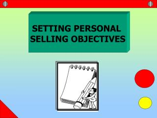 SETTING PERSONAL  SELLING OBJECTIVES