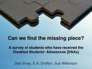 Deb Viney, E.A. Draffan, Sue Wilkinson
