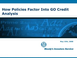 How Policies Factor Into GO Credit Analysis