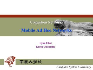 Ubiquitous Networks Mobile Ad Hoc Networks