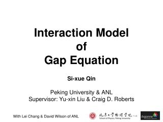 Interaction Model  of  Gap Equation