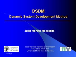 DSDM  Dynamic System Development Method