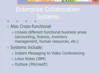 Enterprise Collaboration Systems