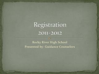Registration  2011-2012