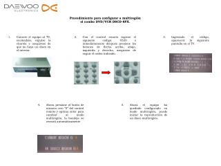 Procedimiento para configurar a multiregión el combo DVD/VCR DSCD-8FX.