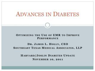 Advances in Diabetes