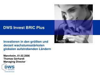 DWS Invest BRIC Plus