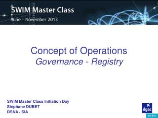 Concept of Operations Governance - Registry