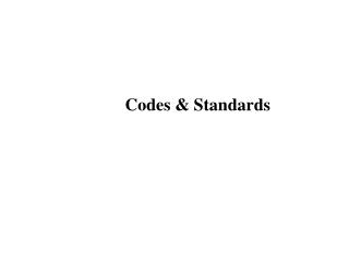 Codes   Standards