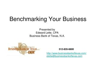 Benchmarking Your Business