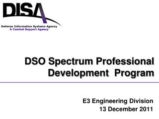 E3 Engineering Division 13 December 2011