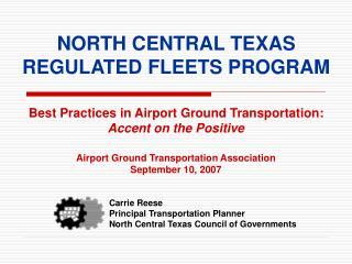 NORTH CENTRAL TEXAS REGULATED FLEETS PROGRAM