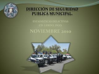 ESTADISTICAS DELICTIVAS CD. LERDO, DGO. NOVIEMBRE 2010