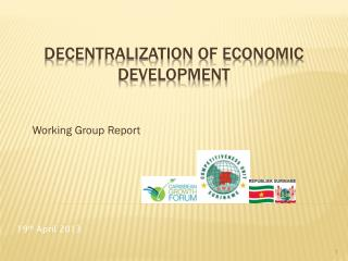 Decentralization of Economic Development